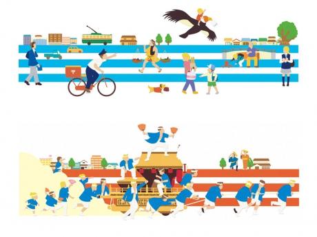 大阪市営地下鉄 壁画
